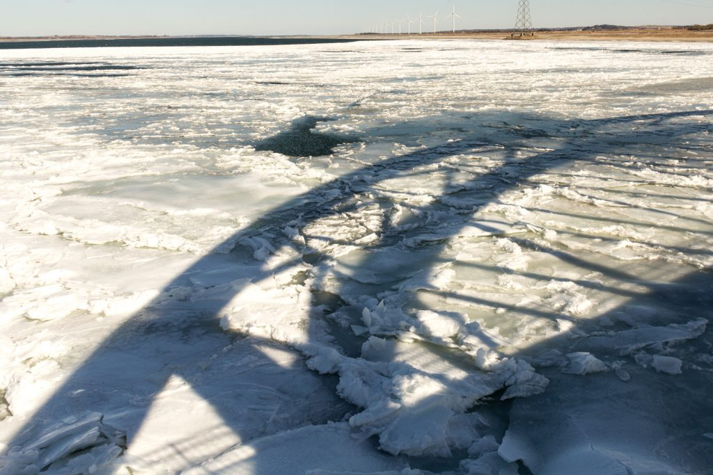 Bridge over frozen water