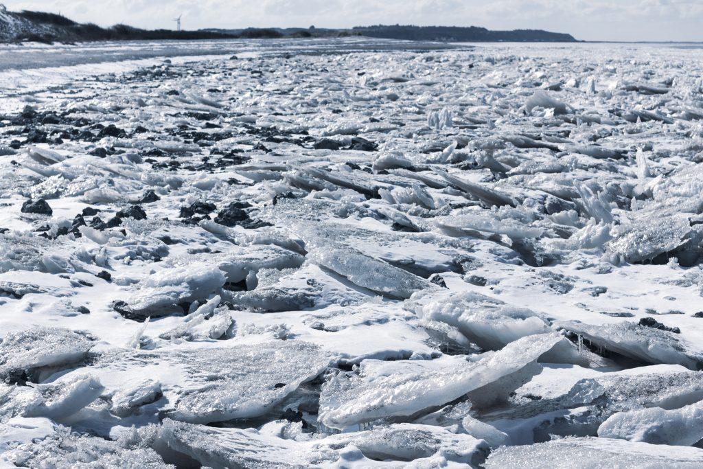 Limfjord bei Løgstør im Eis